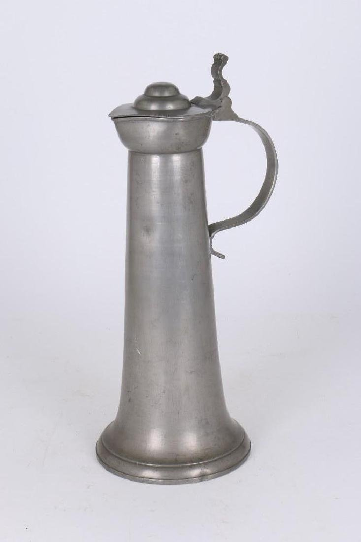 EUROPEAN PEWTER FLAGON - 3