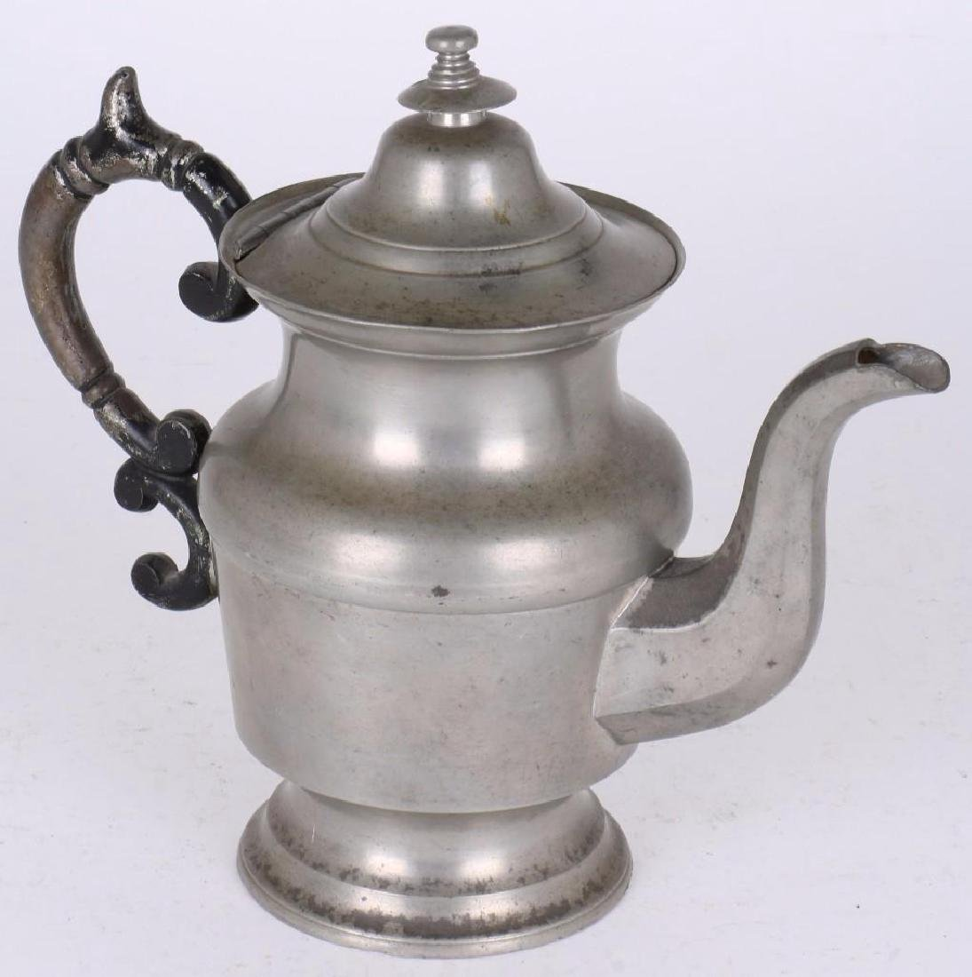 ROSWELL GLEASON PEWTER COFFEE POT
