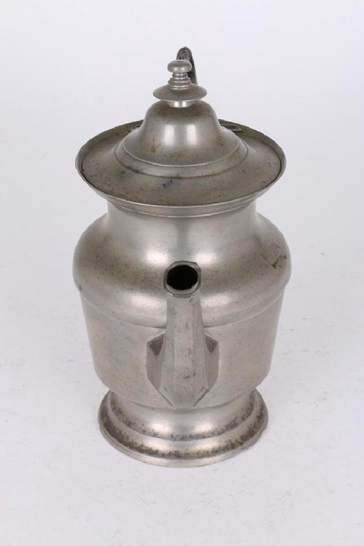 ROSWELL GLEASON PEWTER COFFEE POT - 3