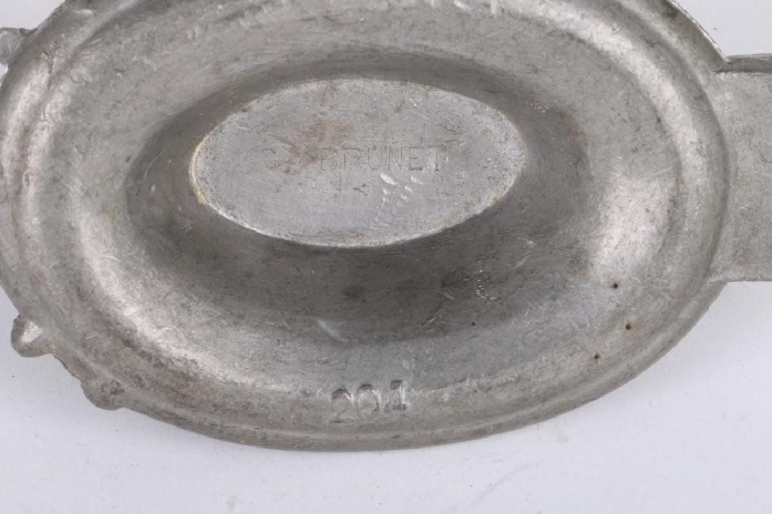 8 VARIOUS PEWTER ICE CREAM MOLDS - 7