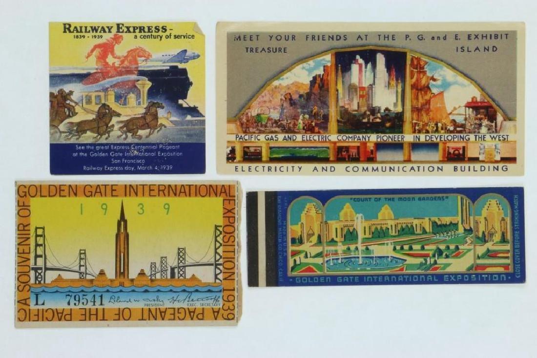 1939 GOLDEN GATE INTERNATIONAL EXPOSITION TICKET ALONG