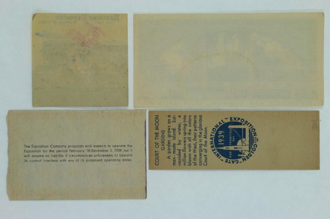 1939 GOLDEN GATE INTERNATIONAL EXPOSITION TICKET ALONG - 3