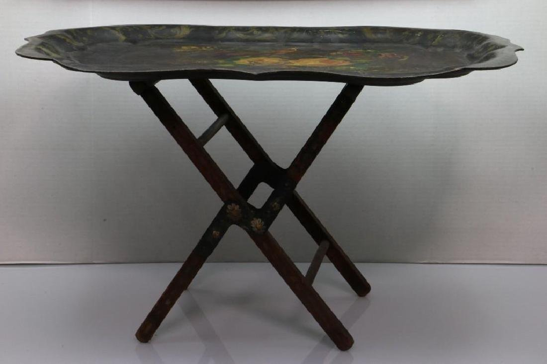 A PAINTED TOLE TRAY, 19TH CENTURY - 3