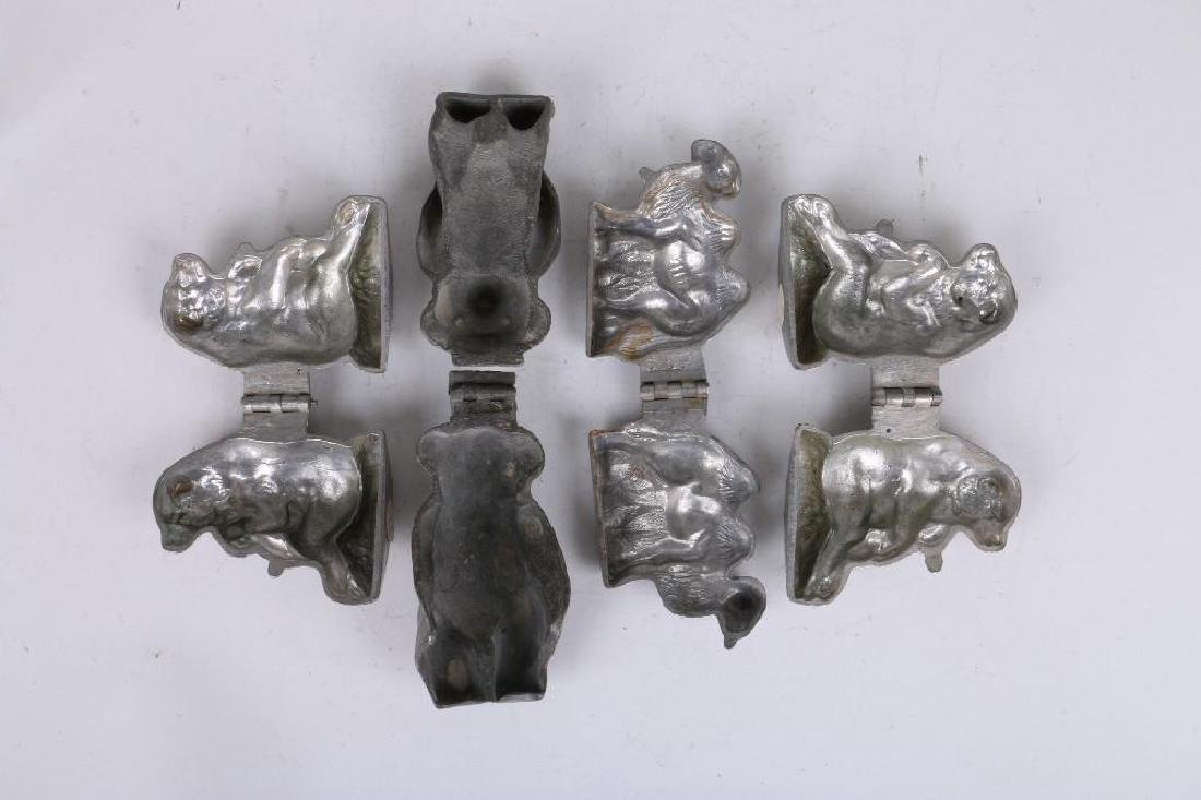 4 EPPELSHEIMER PEWTER ANIMAL SHAPED ICE CREAM MOLDS - 2