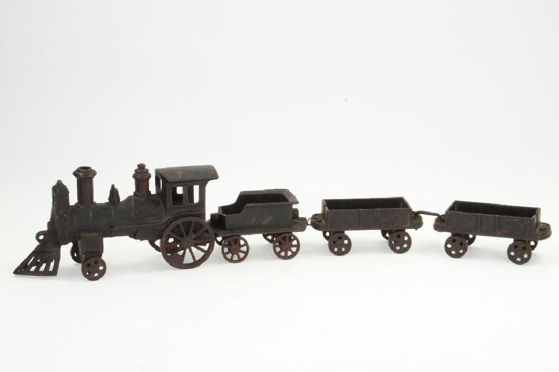Cast Iron Steam Locomotive Freight Set - 2