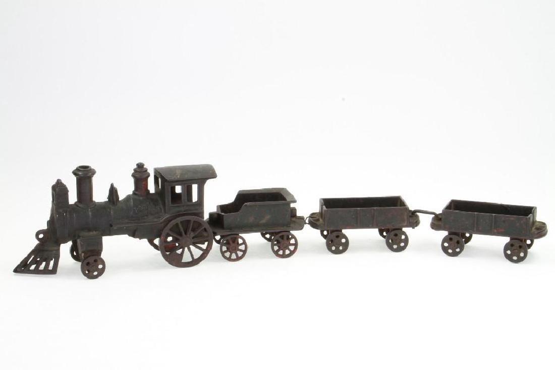 Cast Iron Steam Locomotive Freight Set - 3