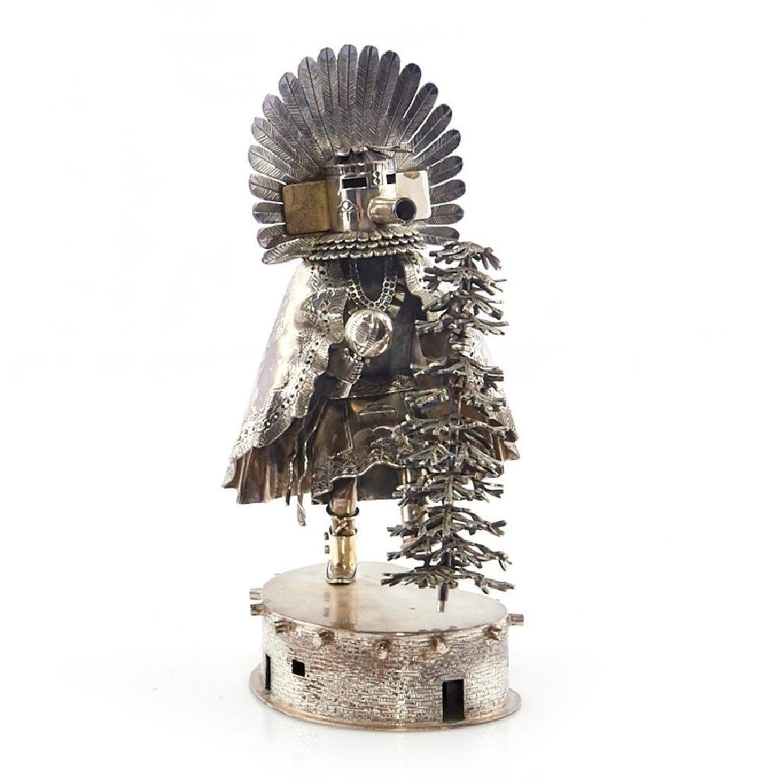 STERLING SILVER KACHINA SCULPTURE