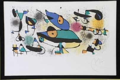 Joan Miro (1893-1983) Original lithograph