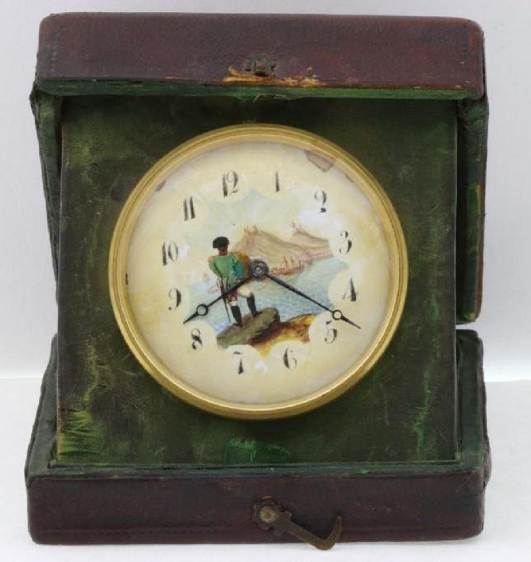 NAPOLEONIC SOUVENIR TRAVELLING CLOCK, EARLY 20TH C.