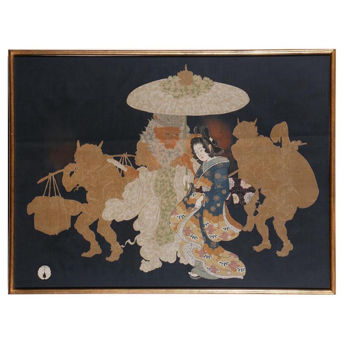 Antique Japanese textile