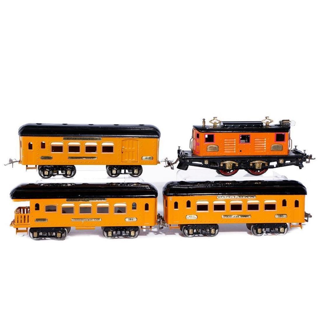 Ives Standard Gauge 3235 Locomotive, Passenger Set