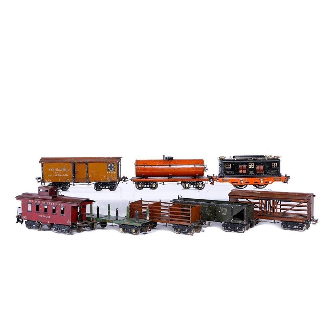 Ives Standard Gauge 3236 Locomotive with 7 Freights
