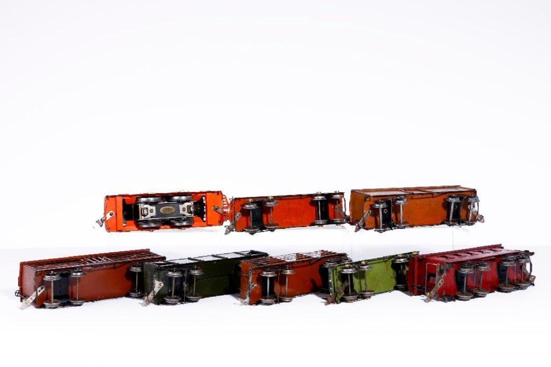 Ives Standard Gauge 3236 Locomotive with 7 Freights - 4
