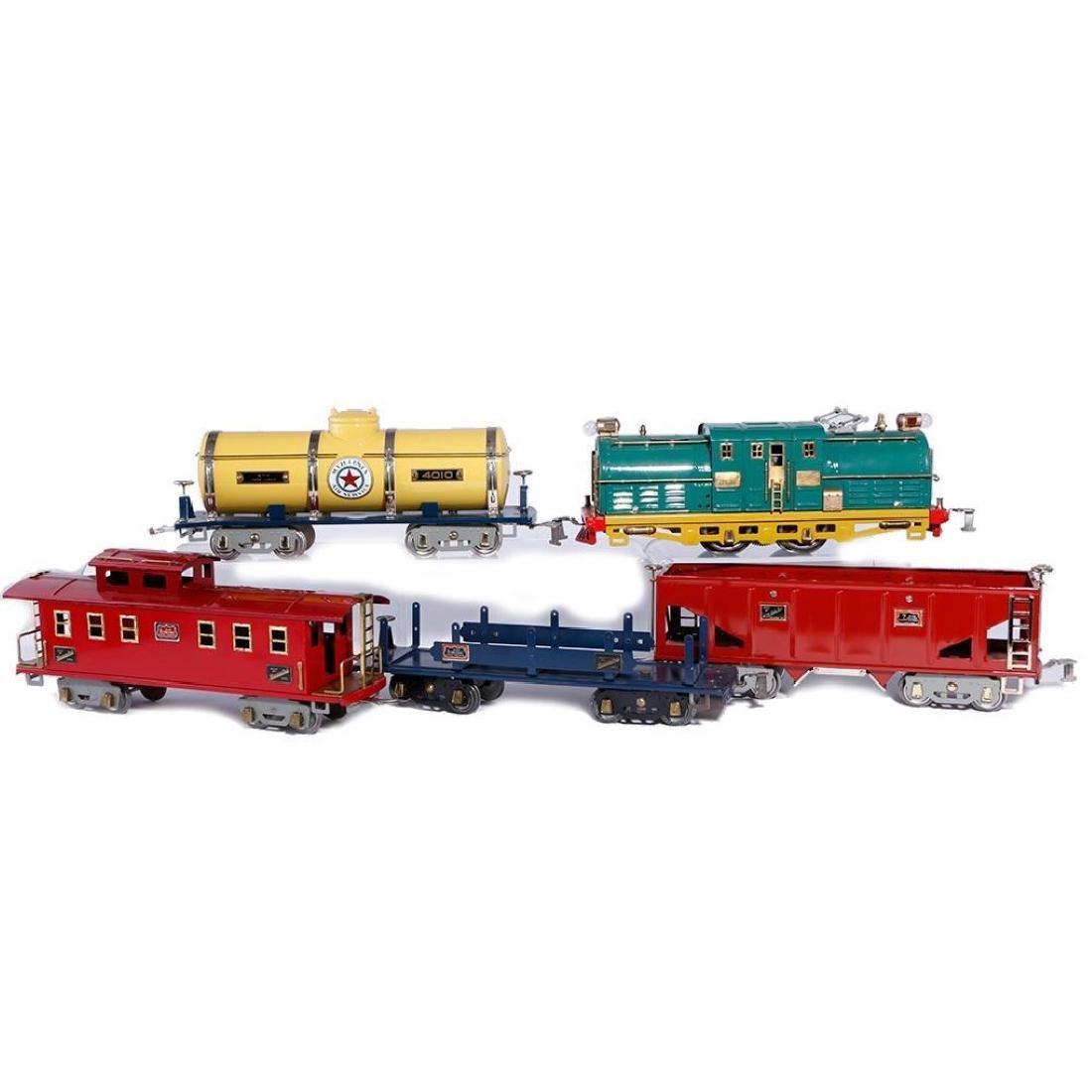 American Flyer Std. Gauge #4637 Locomotive & 4 Freights