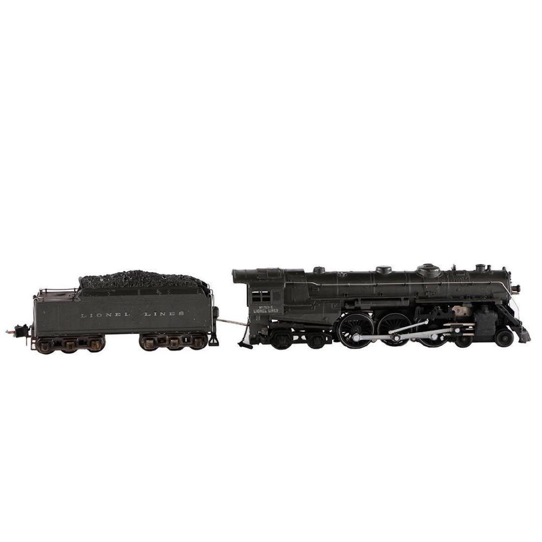 Lionel 763E/2226WX Gray Steam Locomotive, O Gauge