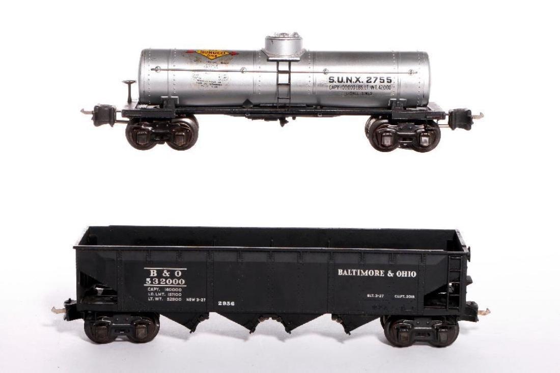 Lionel Prewar Semi-Scale 2956 Hopper+2755 SUNX Tank Car
