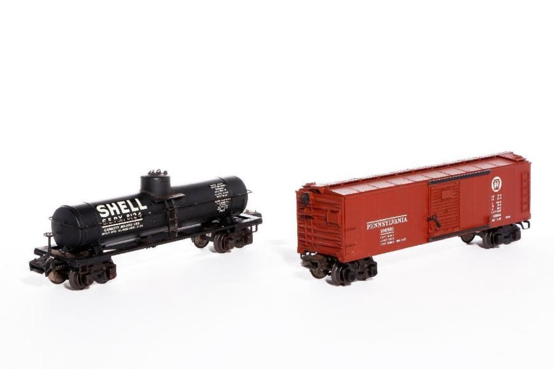 Lionel Prewar Semi-Scale 2955 SHELL TankCar+2954 Boxcar - 2
