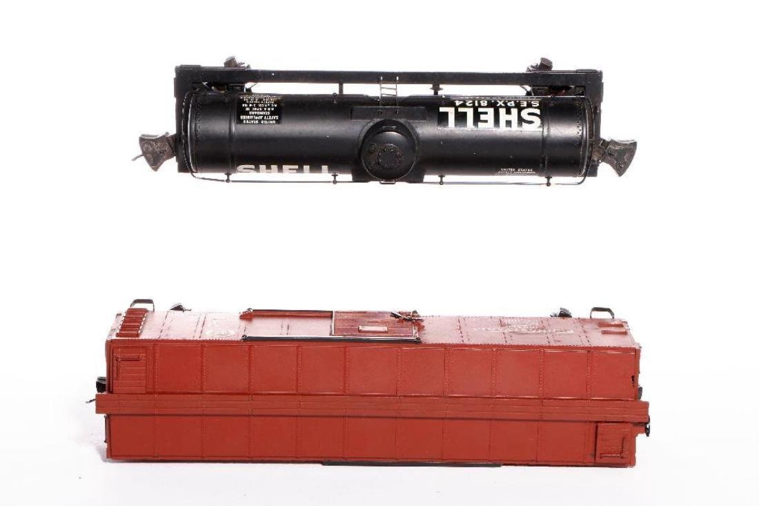 Lionel Prewar Semi-Scale 2955 SHELL TankCar+2954 Boxcar - 5