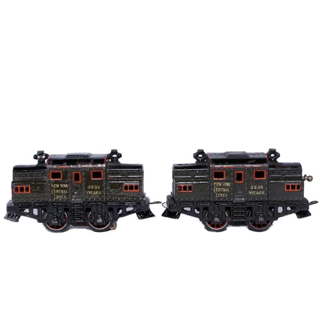 Two Bing 0 Gauge Cast Iron Electric NYC Type Locomotive