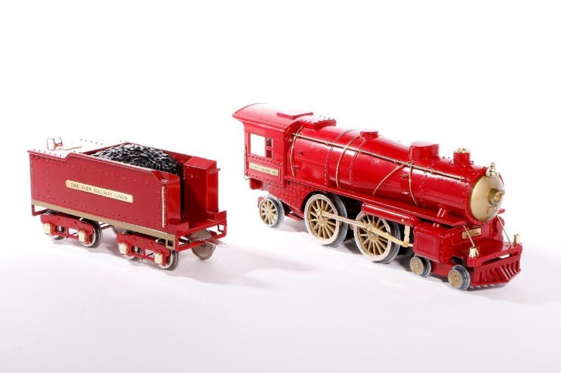 MTH Standard Gauge Repro Red 1134 Ives Steam Loco - 2