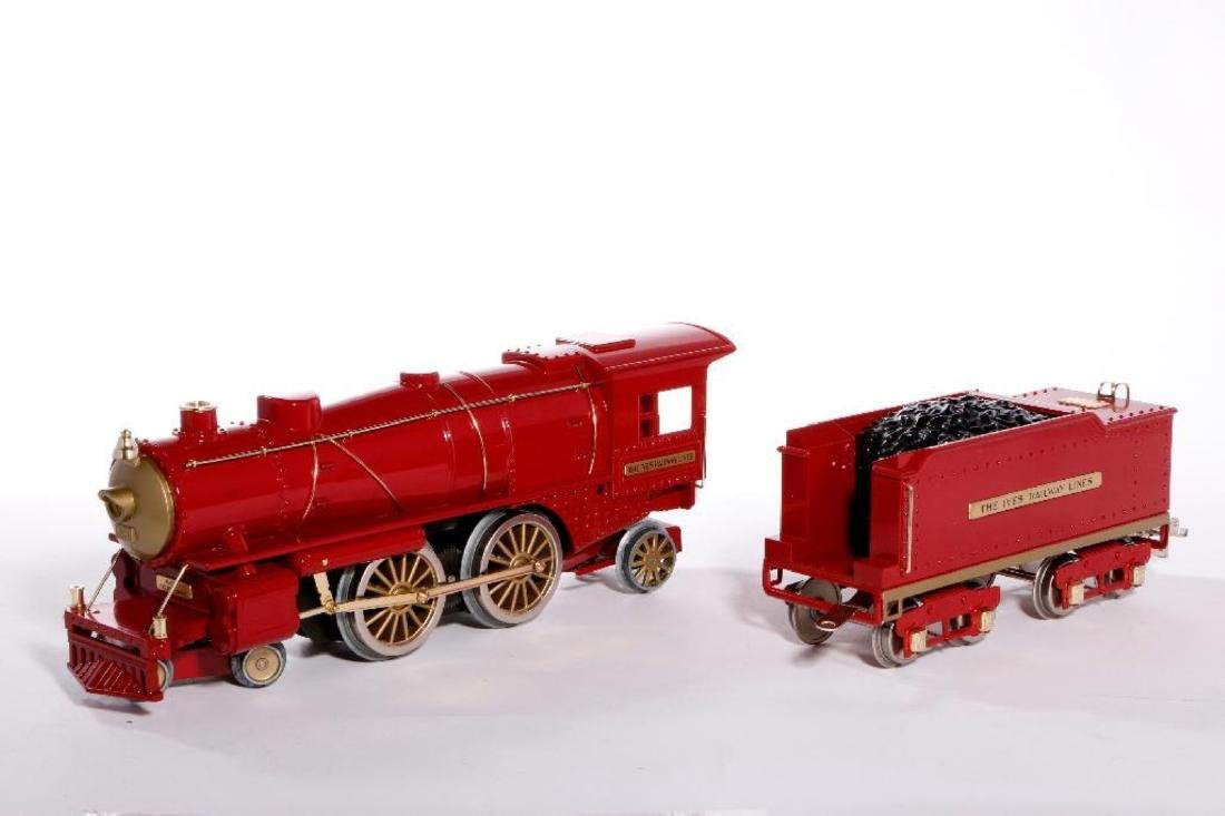 MTH Standard Gauge Repro Red 1134 Ives Steam Loco - 3