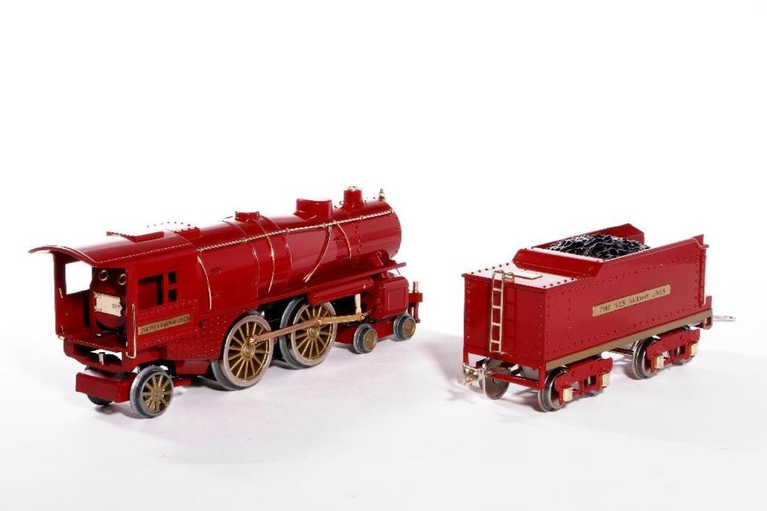 MTH Standard Gauge Repro Red 1134 Ives Steam Loco - 4