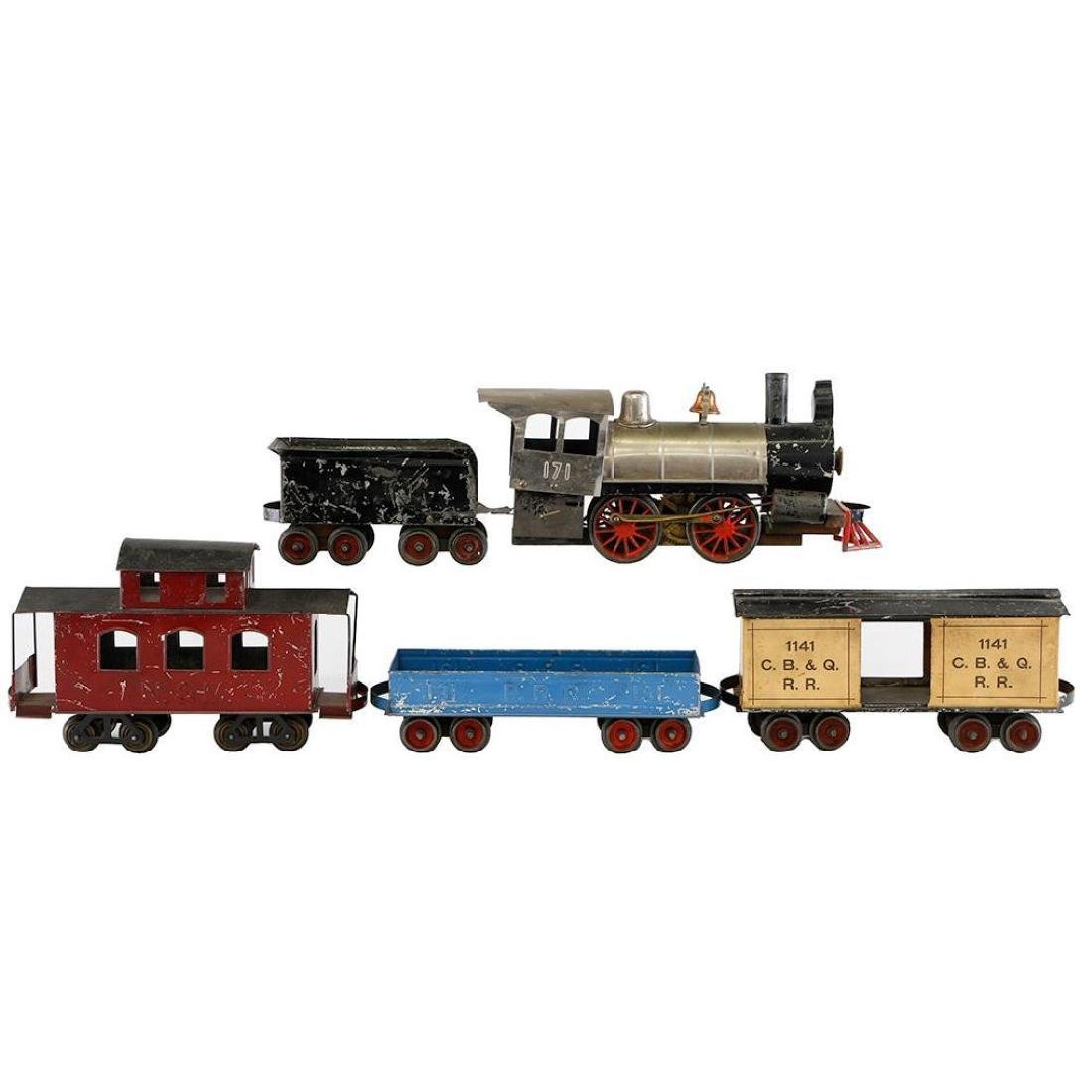 "Carlisle & Finch 2"" Steam Locomotive and Freight Set"