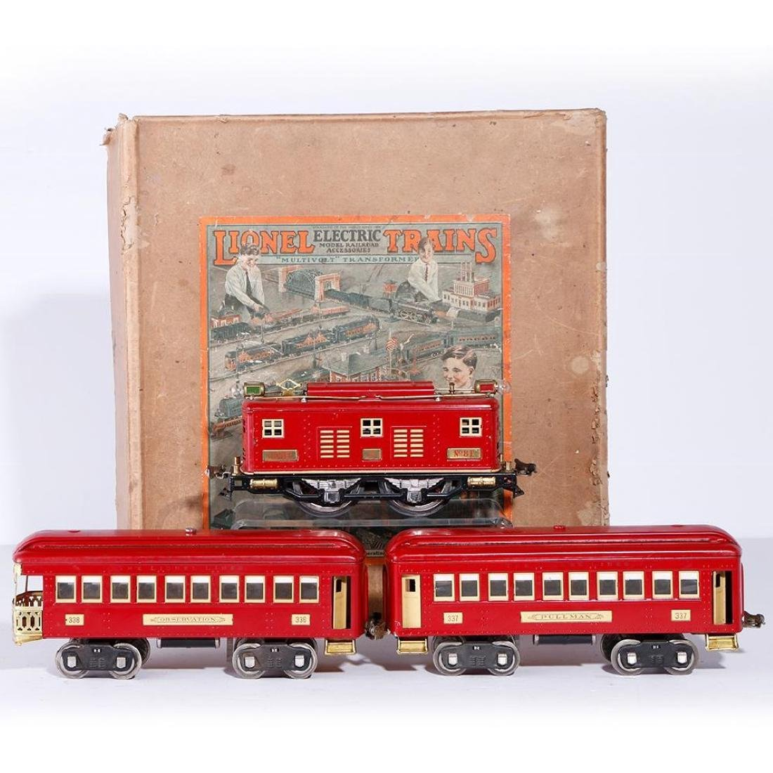 Lionel Standard Gauge Boxed #347E Outfit, Red/Cream