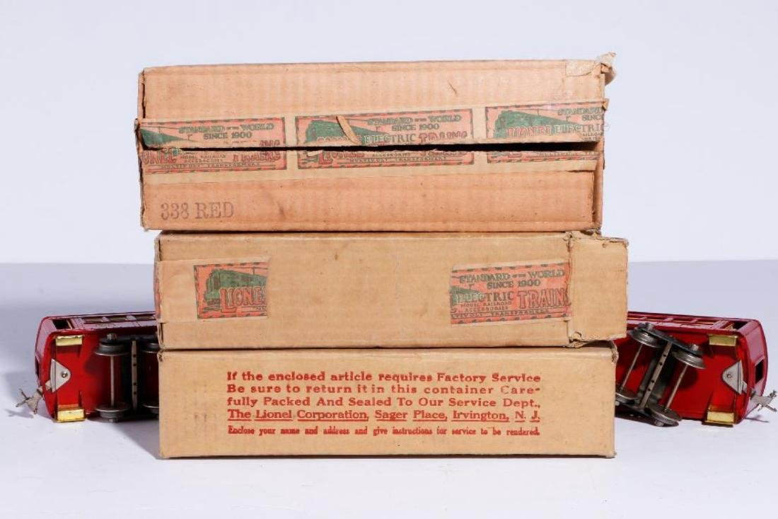 Lionel Standard Gauge Boxed #347E Outfit, Red/Cream - 6