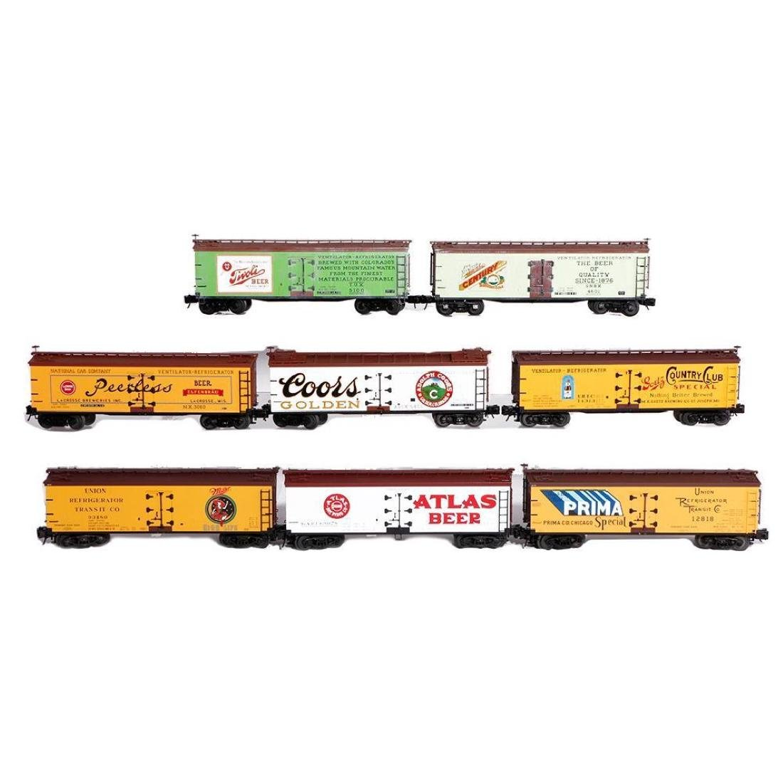Lot of 8 Atlas O Gauge Woodside Reefers