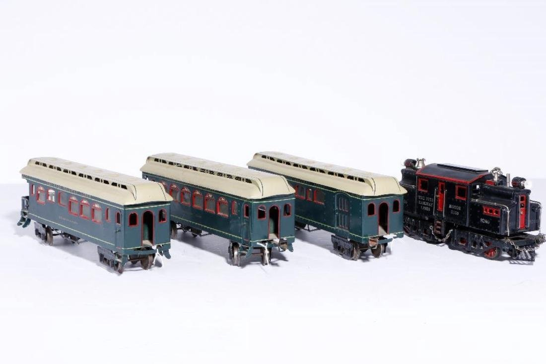 Ives #1 Gauge 3240 Locomotive with 3 Passenger Cars - 2