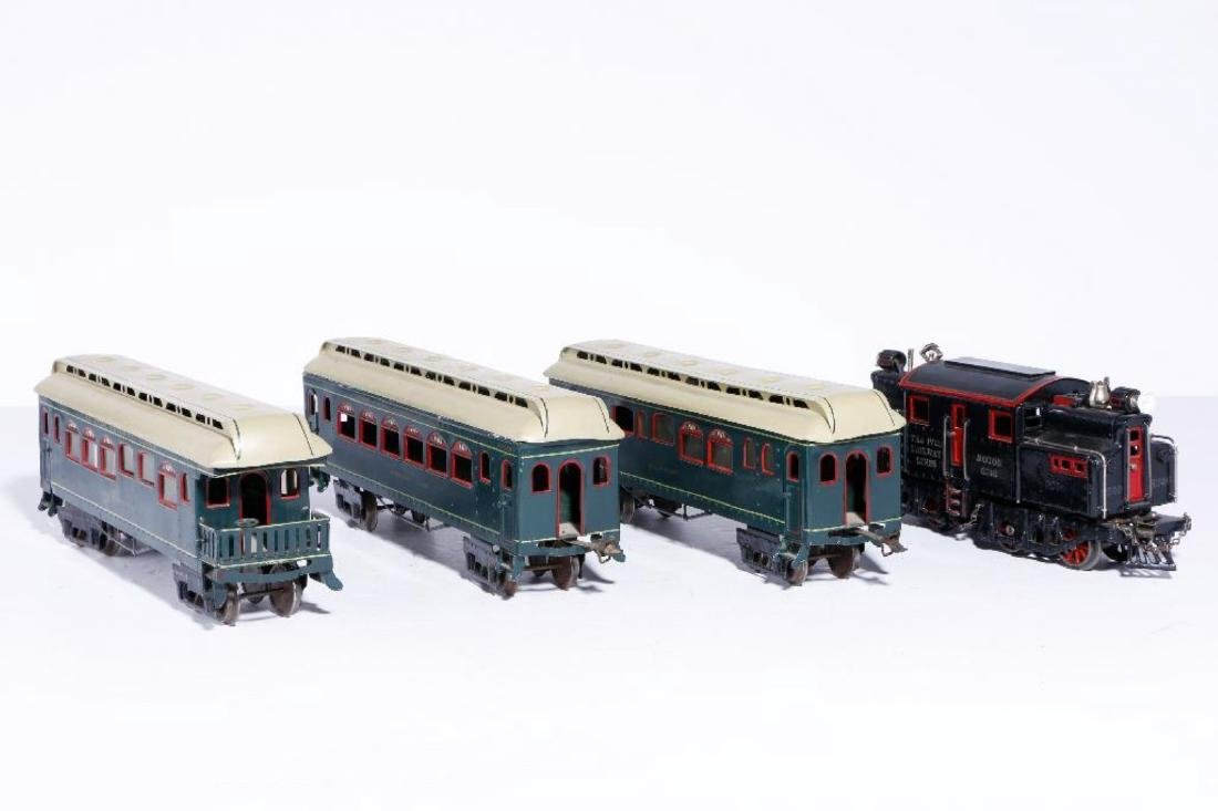 Ives #1 Gauge 3240 Locomotive with 3 Passenger Cars - 3