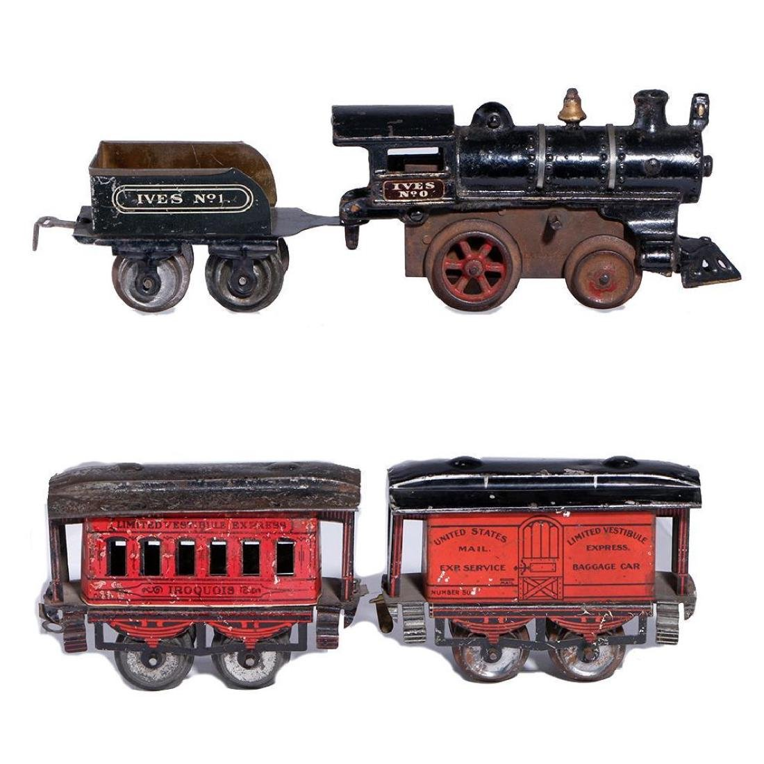 Early Ives O Gauge passenger set