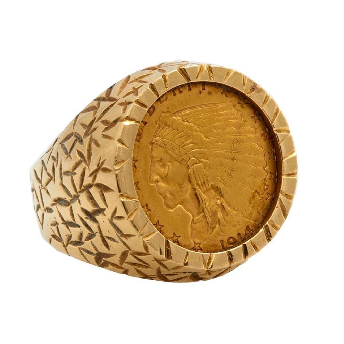 Gold coin and 14k gold ring