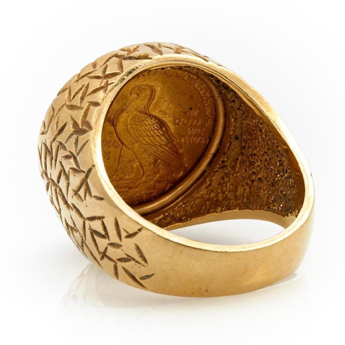 Gold coin and 14k gold ring - 3