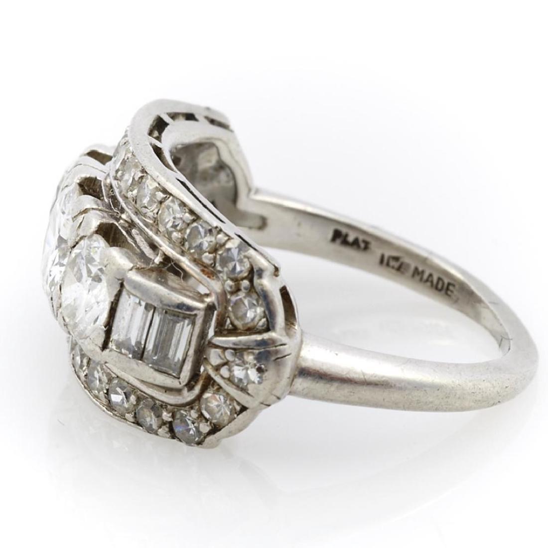 Diamond and platinum ring - 2
