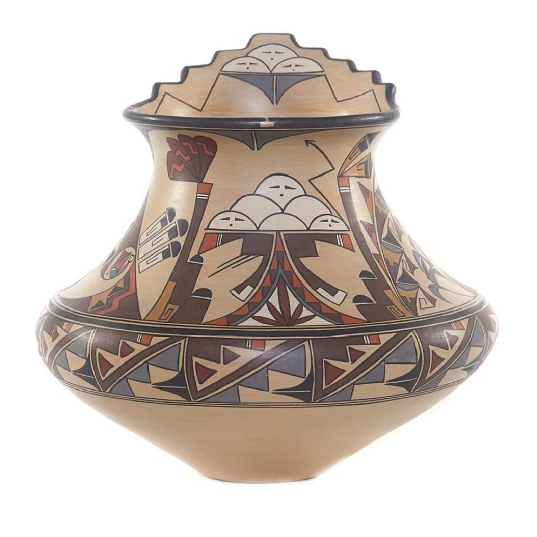 SANTA CLARA POLYCHROME POTTERY JAR