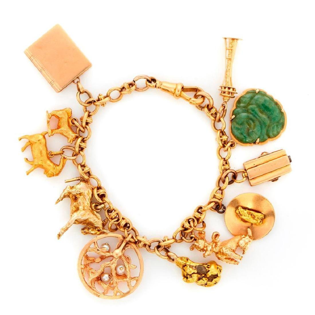 18k gold charm bracelet