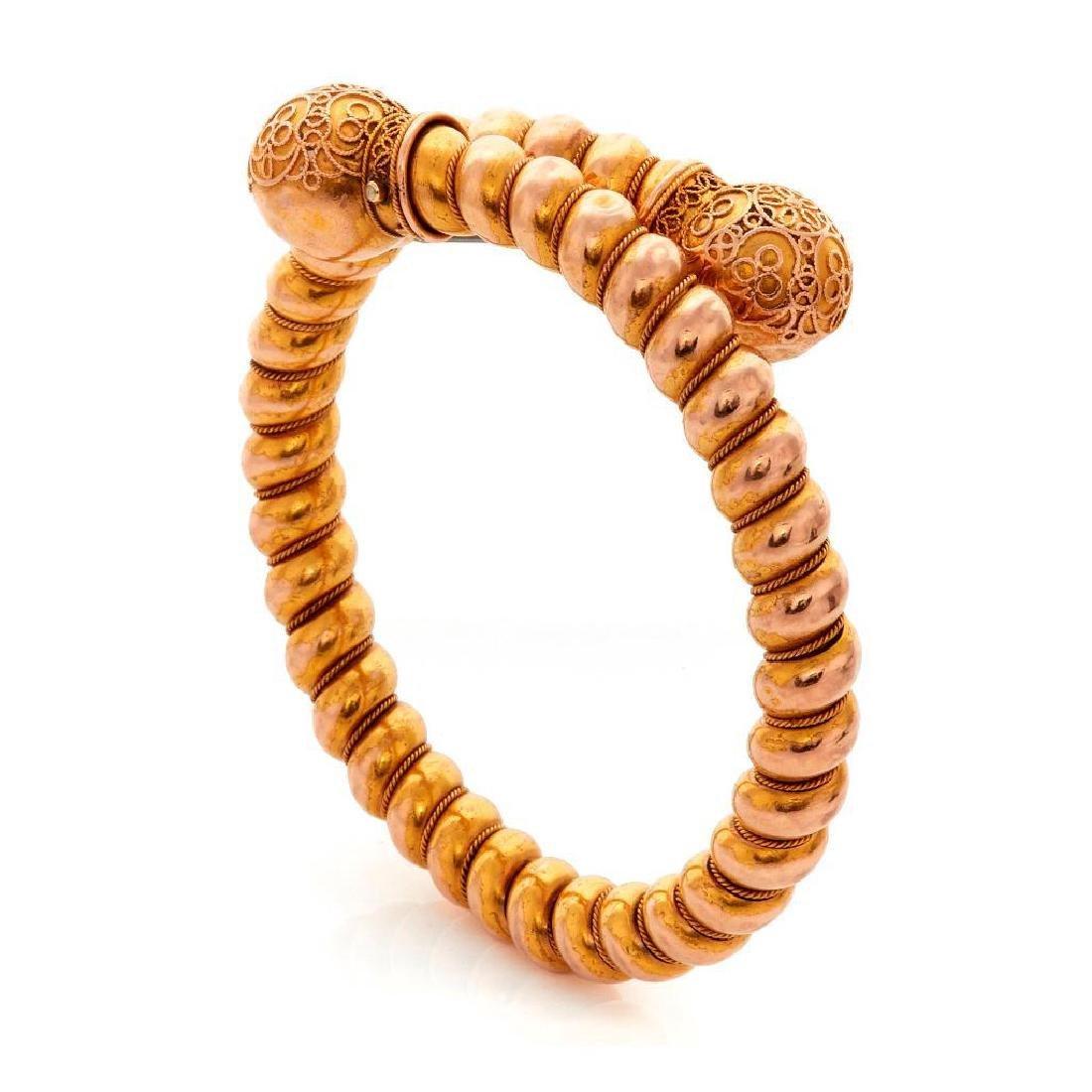 Victorian 14k gold bangle bracelet