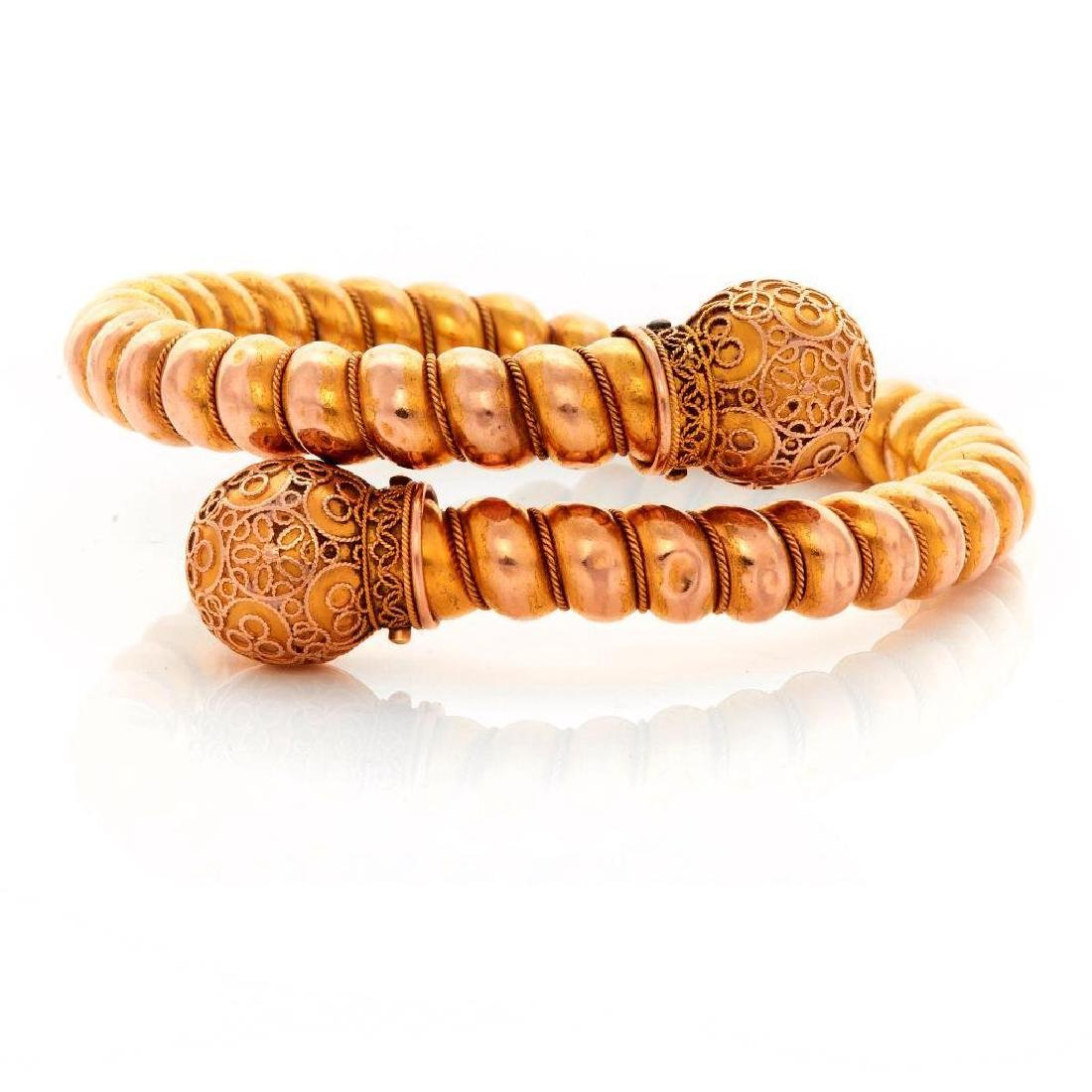 Victorian 14k gold bangle bracelet - 2