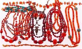 Amber, bakelite amber, turquoise, silver/metal jewelry