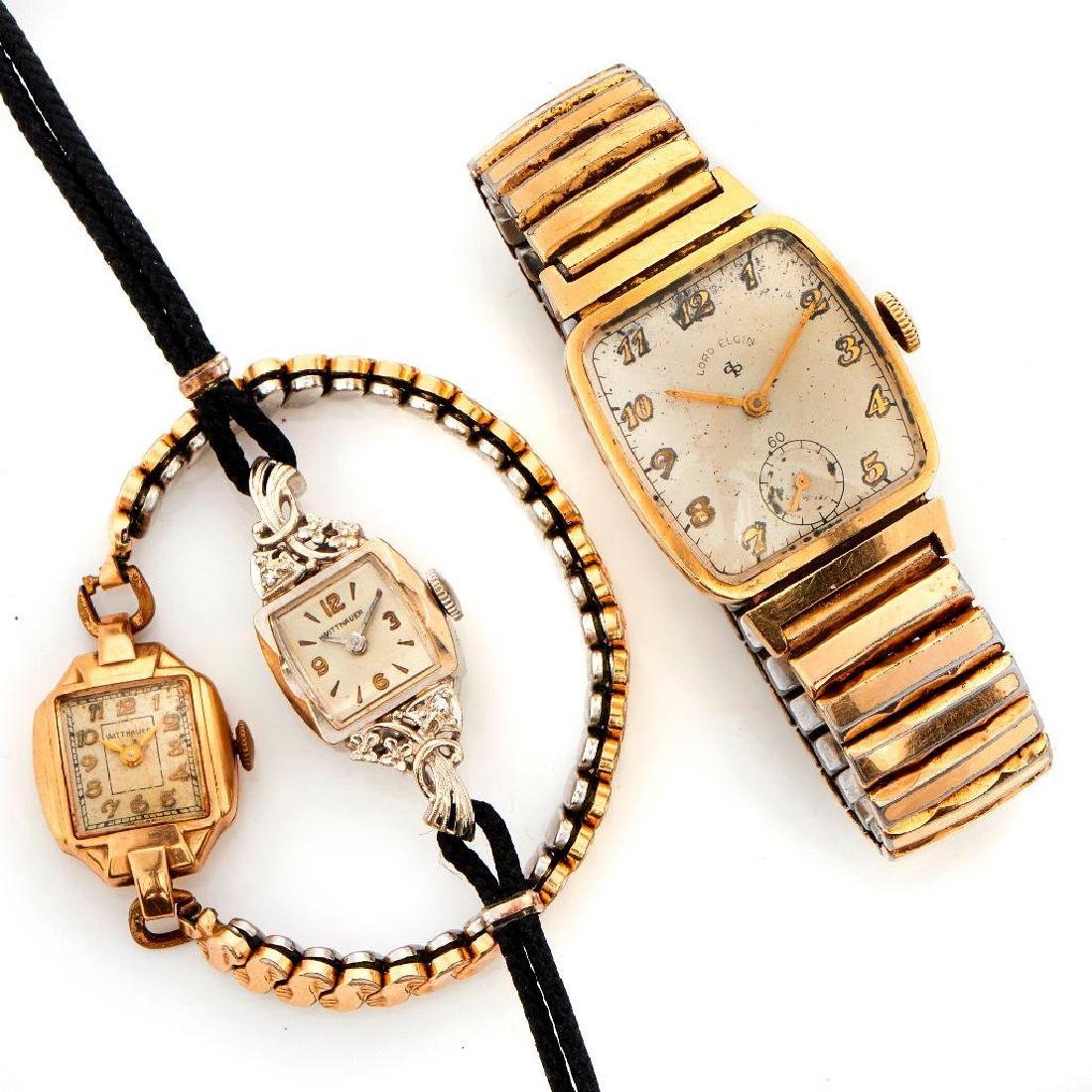 Wittnauer and Elgin gold watches