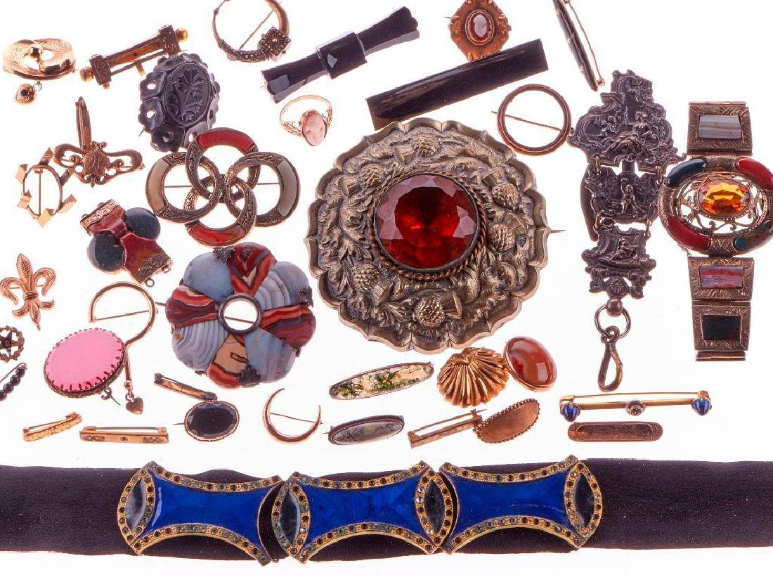 Collection of Scottish stone-set jewelry