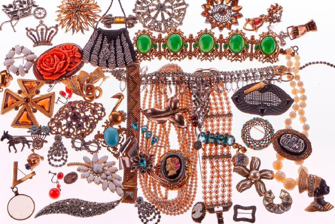 Vintage and antique rhinestone and costume jewelry