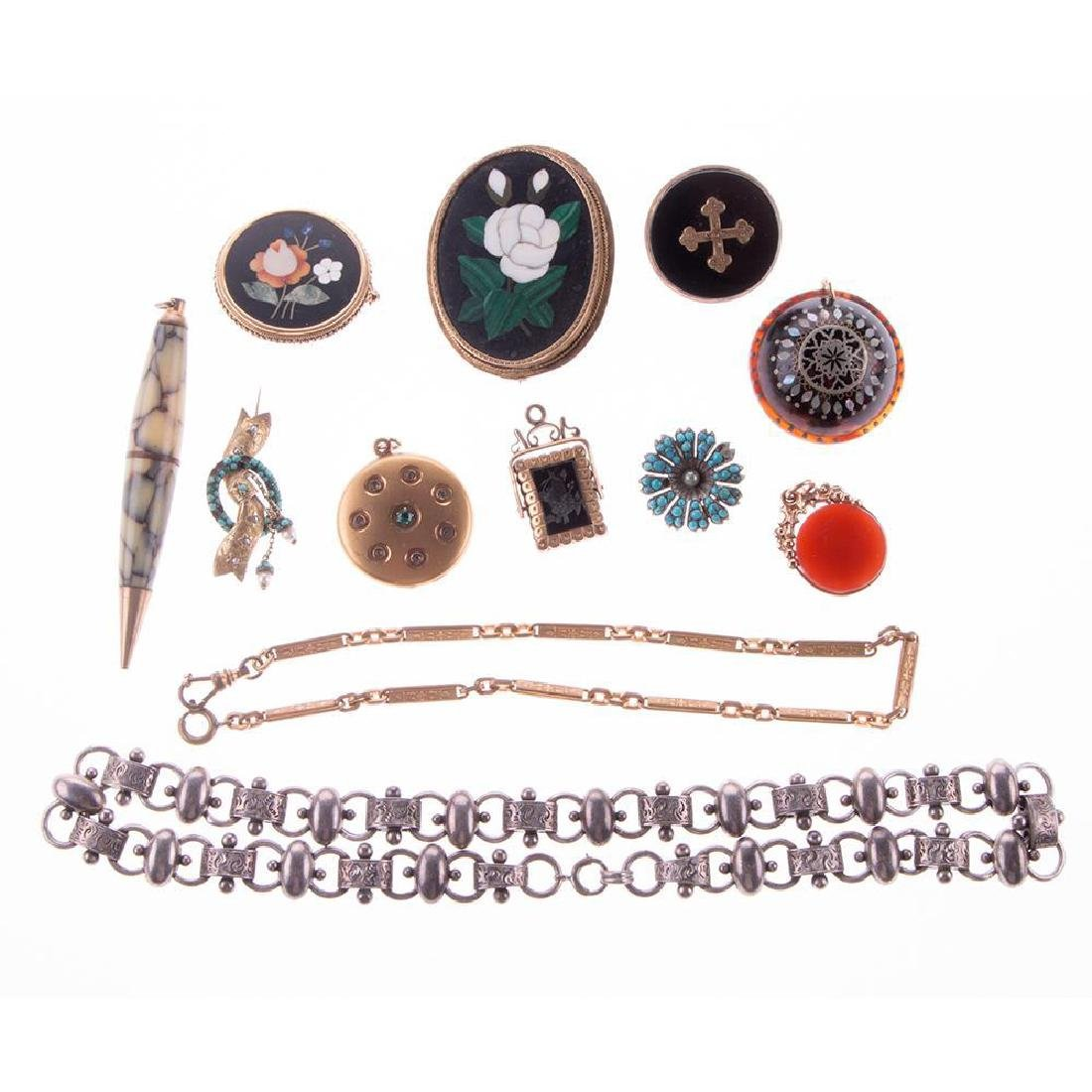 Collection of antique and vintage jewelry
