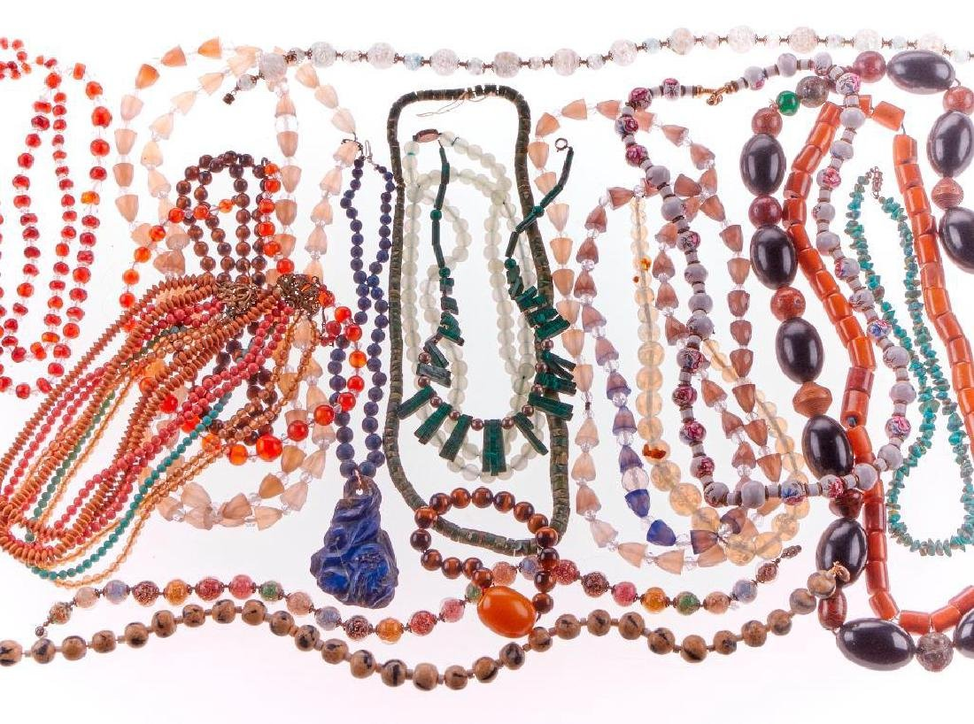 Collection of beaded jewelry