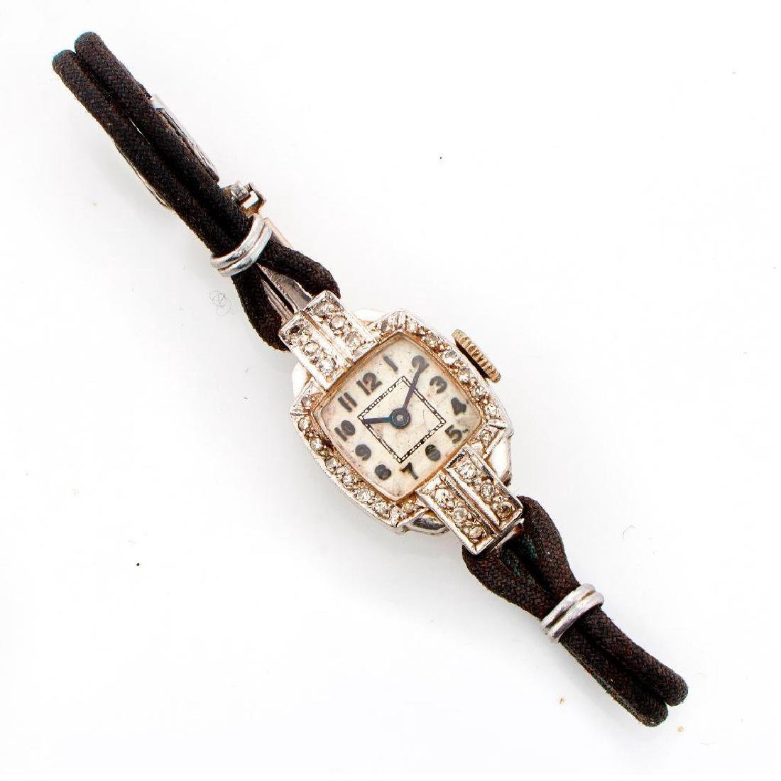 Vintage ladies diamond and platinum watch
