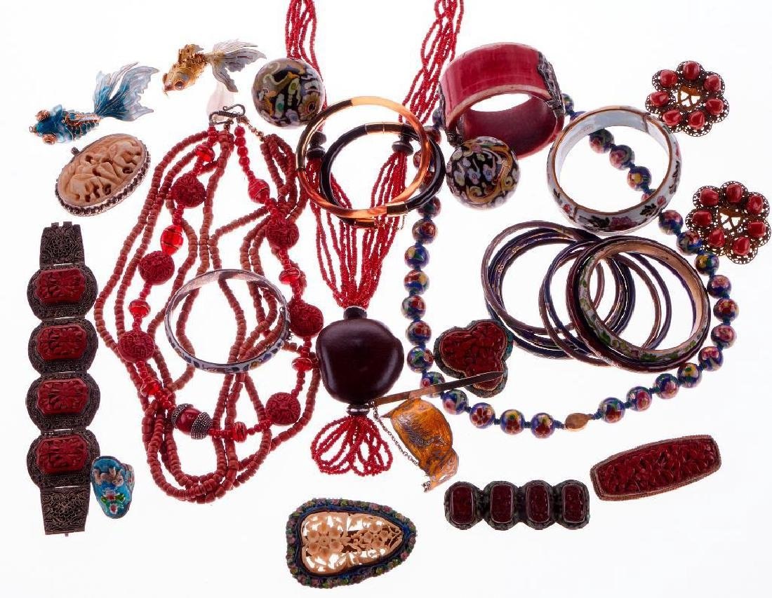 Collection of silver and metal jewelry