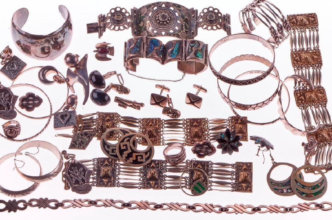 Taxco and Mexican silver jewelry including Sigi Pineda