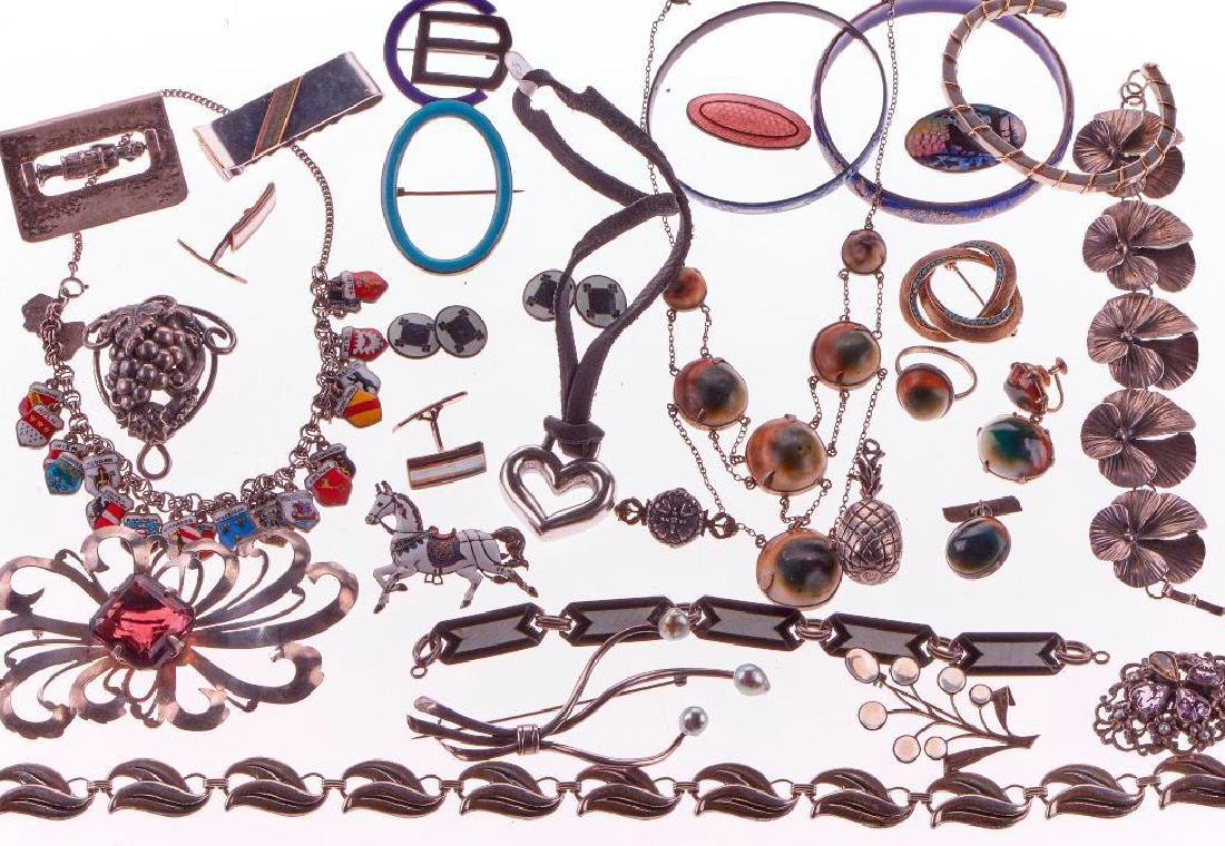 Collection of silver and gold jewelry